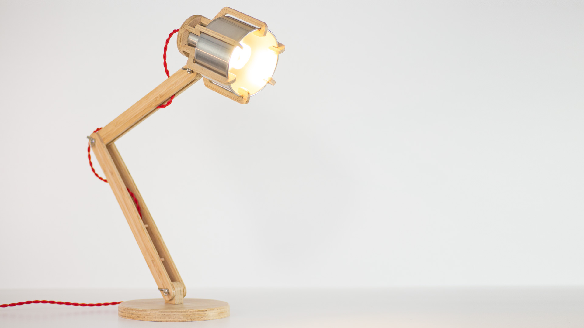 These Cool Desk Lamps Are Handmade To Order In Natural Or Dark Bamboo With The Metal Shade Available A Number Of Finishes